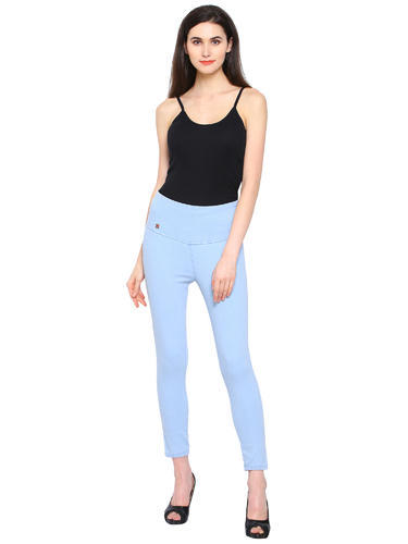 c9e31efb9b125 Imported Blue Women' s High Waist Denim Jegging Ankle Length Style Jeggings  Solid Slim Fit