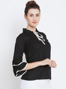 Ladies Rayon Frill Sleeve Top