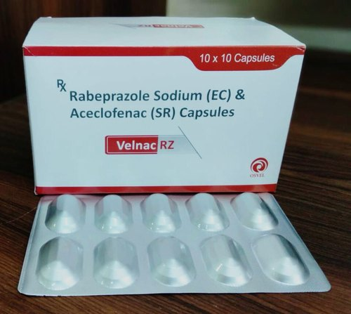 Pharmaceutical Capsule Aceclofenac 200mg Rabeprazole 20mg Manufacturer From Panchkula