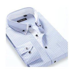 Nishant Button Men Striped Formal Shirt, Machine Wash,Hand Wash, Packaging Type: Packet