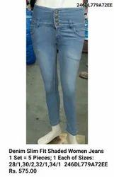 Blue Denim Slim Fit Jeans