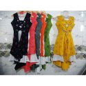 Sleeveless Designer Rayon Kurti, Handwash