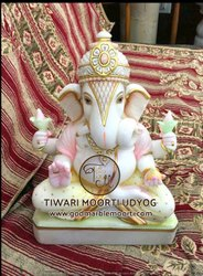Dagdu Seth Marble Ganesh Statue