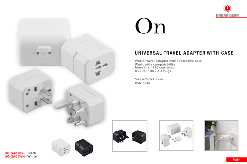 Urban Gear - ON - Universal Travel Adapter with case - UG-GA01