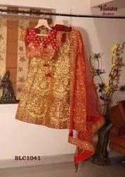 Red Bridal Sequin Lehenga