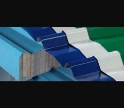 1830-4480 Mm Color Coated Bhushan Corrugated Roofing Sheets, Thickness Of Sheet: 0.20 to 0.60 mm