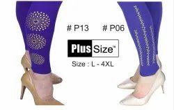 Churidar Bottom Printed Royal Blue Legging, Size: L-4XL