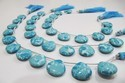 Blue Turquoise Smooth Plain Magnesite Briolette Beads