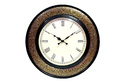 Wooden Brass Channel Wall Clock Size:18 Inches
