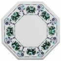 White Marble Beautiful Inlay Table Top