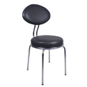 Spacio Black Visitor Chair With Fix Frame