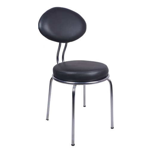 Leatherite Black Spacio Visitor Chair With Fix Frame, Rs 2125 /piece ...