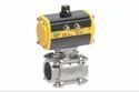 2 3PC Ball Valve with ISO Pad & Actuator (SS-304)