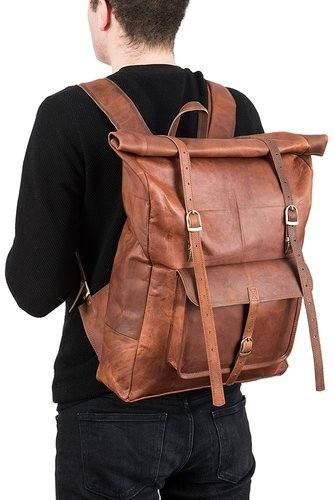 38af719c7822 Original Leather Classy Bags' Retro/Vintage Dapper Sailor  Rucksack/Backpack/Bag/Bags for Men Women