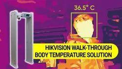 Hikvision Temperature Screening With Fast Deployment- Metal Detector Doors