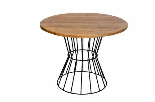 huge selection of 28ec1 00112 Industrial Round Dining Table, Mango Top