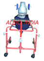 Albio CP Walker Child Large- Adjustable Height with Head Rest & Body Supporting Chest Belt