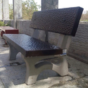 Precast Concrete Bench