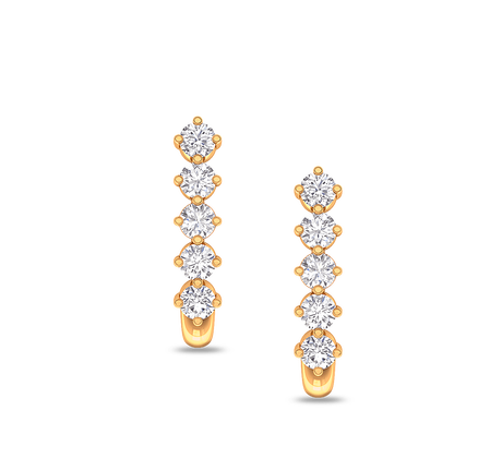ae620ae53 Yellow Gold A Duet Studs Earrings, Size: Length - 10 Mm, Width - 4 ...