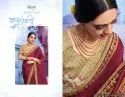 Simple Saree with Designer Blouse