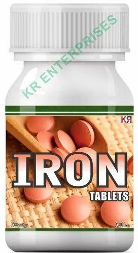 KR Enterprises Iron Tablets, Packaging Type: Bottle, Non prescription