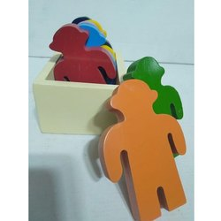 Multi Color Wooden Men Toy