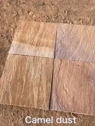 Brown Natural stone Camel Dust Tile, Thickness: 10-15 mm