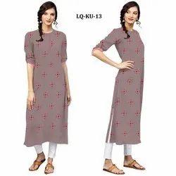 Rayon Embroidered Ladies Kurti