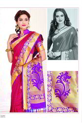 Pure Nano Banarasi Silk Fabric Wedding Special Sarees