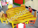 Wooden Banana Table with Six Chair