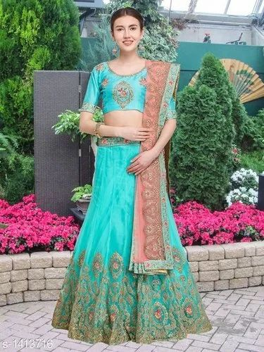 Multicolor Party Wear Designer Lehenga, Age: 18-35