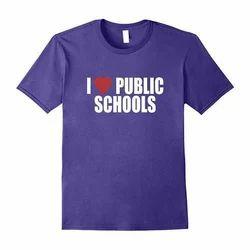 Purple Cotton Kids Sports T-Shirt