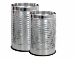 Stainless steel Round Perforated Dustbin