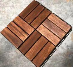 Solid Wood Deck Tile