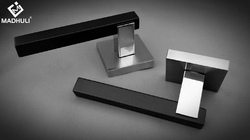 Dual Square Matt Black Lever Handle