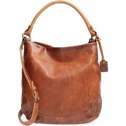 96c51fce43 Brown Plain Ladies Leather Bag