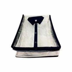 Plastic & Cotton Plain Shirt Cover, Capacity: 10 Shirts