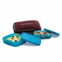 Glass Twin Smart Lunch Box, Capacity: 490 mL