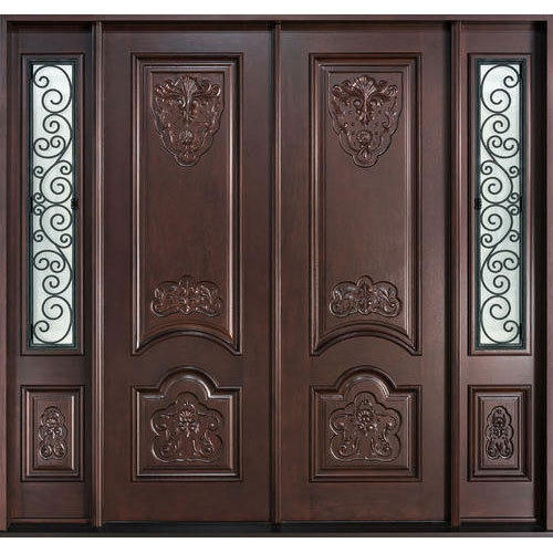 Dark Brown Teak Wood Double Door Rs 40000 Unit Star Doors Id