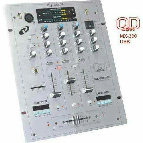 QD Audio QD MX 300 Dual USB DJ Mixer, Panchi Sound System