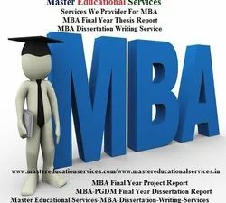 NGA-SCE,PGDBM, MBA Final Year Project Report Service Provider
