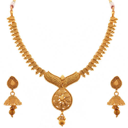 688a0678a8 Necklace Sets - JFL- Gold Plated Bead Necklace Set With Earring  Manufacturer from Mumbai