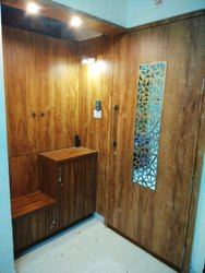 Wooden Safety Doors with wall paneling