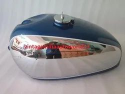 New Panther M100 M120 Chrome And Blue Painted Gas Fuel Petrol Tank With Cap
