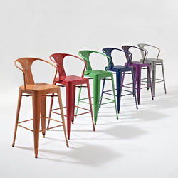 HV Iron Metal Chairs, For Cafe, Size: 42*30*16