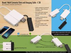 White Boxed: Multi Connector Data And Charging Cable
