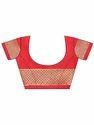 Red Womens Silk Saree