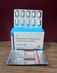 Aceclofenac, Paracetamol And Chlorzoxazone Tablet