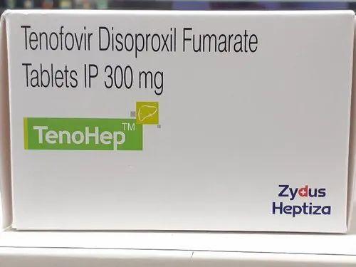 Tenohep 300mg Tablets Pack - 10\'s ( Tenofovir 300mg Tablets - Zydus )