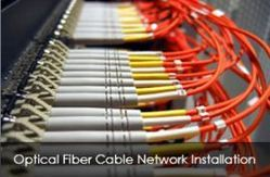Optical Fiber Network Cable Installation